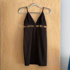 MISSGUIDED Black Cut Out Dress NWT